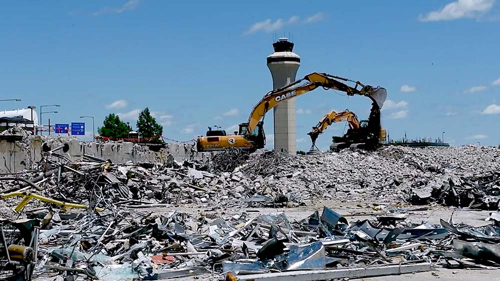 Kansas City International Airport demolition photo 1