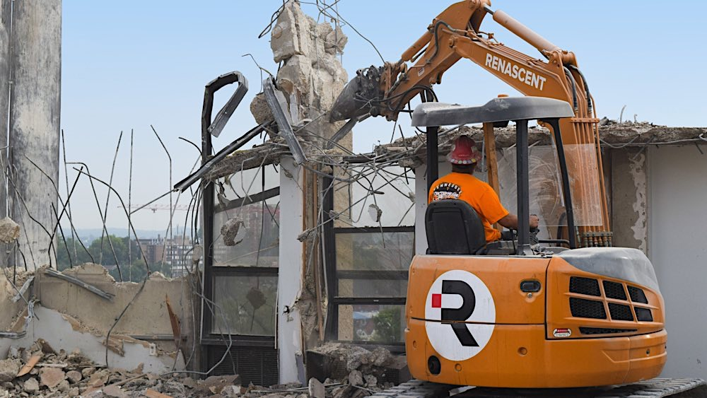 UT Andy Holt Housing demolition photo 1