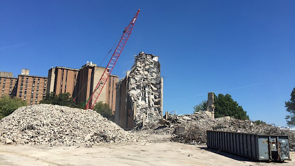 UT Andy Holt Housing demolition photo 6